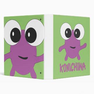 "Verde púrpura de Konichiwa Carpeta 1"""