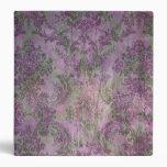 Verde púrpura de la carpeta floral del damasco del