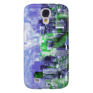 verde púrpura de la ciudad oxidada n carcasa para galaxy s4