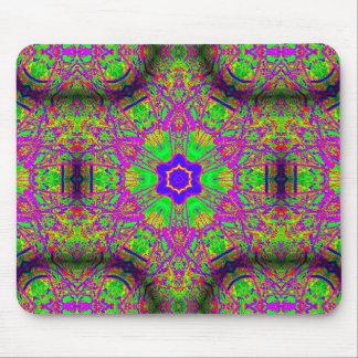 verde púrpura de la estrella azul del seis-punto alfombrilla de ratón