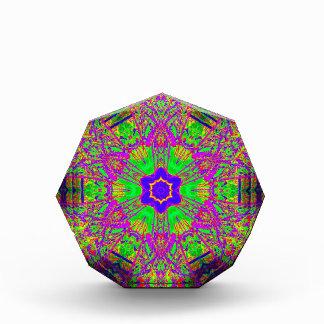 verde púrpura de la estrella del seis-punto