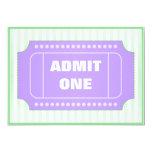 Verde púrpura de la fiesta de cumpleaños de la invitaciones personalizada