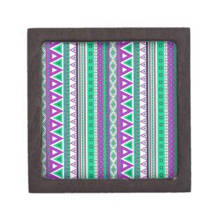 verde púrpura de las fronteras mezcladas caja de regalo de calidad