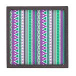 verde púrpura de las fronteras mezcladas cajas de joyas de calidad