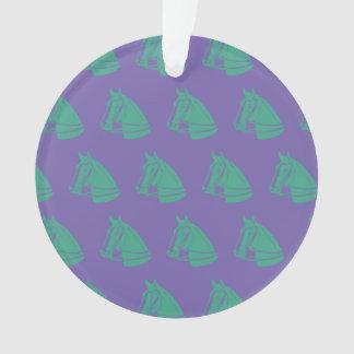 Verde púrpura de los caballos