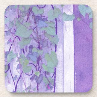 Verde púrpura del enrejado de la correhuela posavasos de bebida