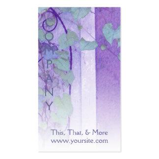 Verde púrpura del enrejado de la correhuela tarjetas de visita
