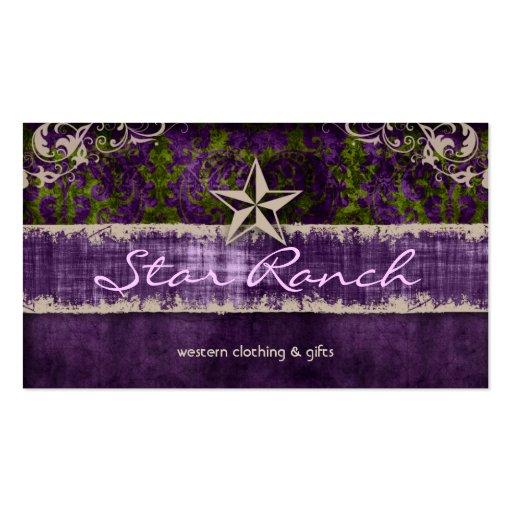 Verde púrpura H de la tarjeta de visita del ante d