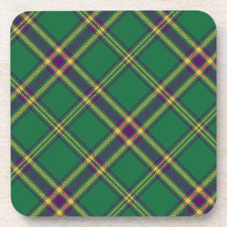 Verde/púrpura/prácticos de costa Set/6 de la tela  Posavaso