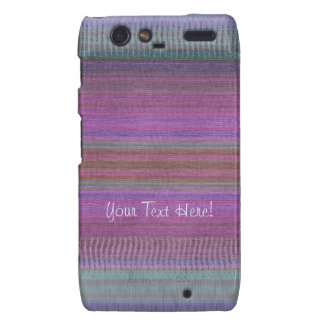 Verde púrpura tejido del rosa de las maravillas droid RAZR carcasa