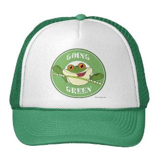 Verde que va del Froggy Gorros Bordados