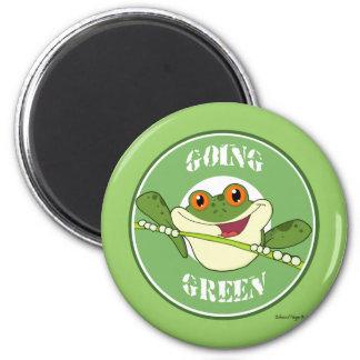 Verde que va del Froggy Imán Redondo 5 Cm