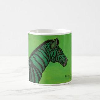 Verde que va taza básica blanca