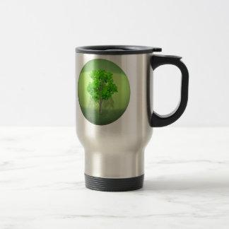 Verde que va taza de viaje de acero inoxidable