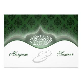 Verde real del boda del bismillah islámico del com