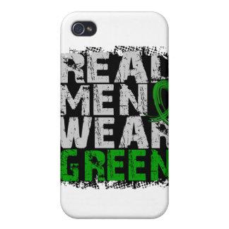 Verde real del desgaste de hombres de la enfermeda iPhone 4 funda