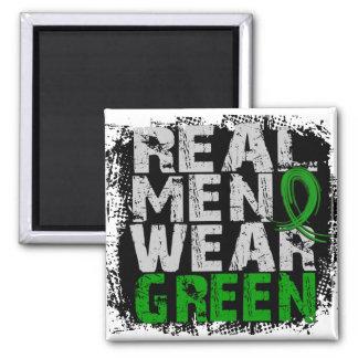 Verde real del desgaste de hombres de la enfermeda imanes
