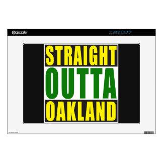 Verde recto de Outta Oakland Calcomanía Para 38,1cm Portátil