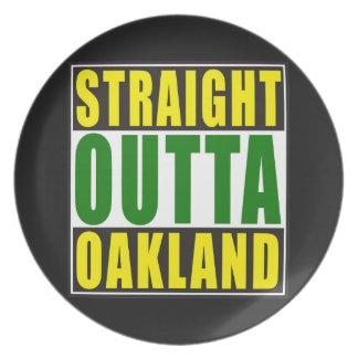 Verde recto de Outta Oakland Plato Para Fiesta