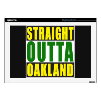 Verde recto de Outta Oakland Skins Para 43,2cm Portátil