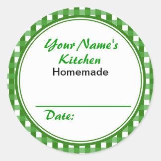 Verde redondo de enlatado personalizado del etiqueta redonda