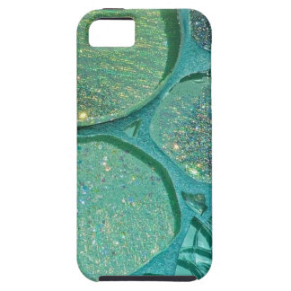Verde reluciente abstracto iPhone 5 fundas