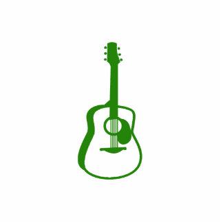 verde resumido del gráfico de la guitarra escultura fotográfica