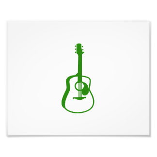 verde resumido del gráfico de la guitarra arte con fotos