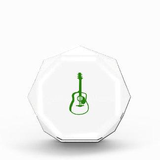 verde resumido del gráfico de la guitarra
