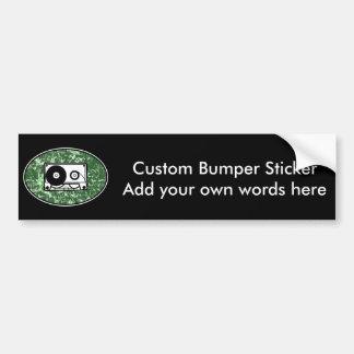 Verde retro de la cinta de casete pegatina de parachoque