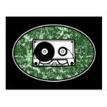 Verde retro de la cinta de casete postal