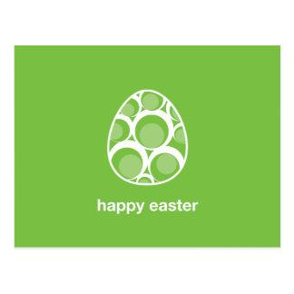 verde retro feliz del huevo de pascua postales