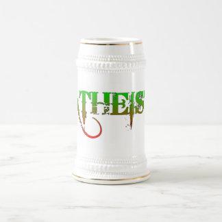 Verde/rojo ateos del estilo del gótico de la jarra de cerveza