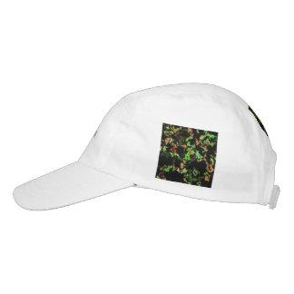 verde rojo de la salpicadura gorras de alto rendimiento