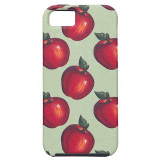 Verde rojo de las manzanas iPhone 5 funda