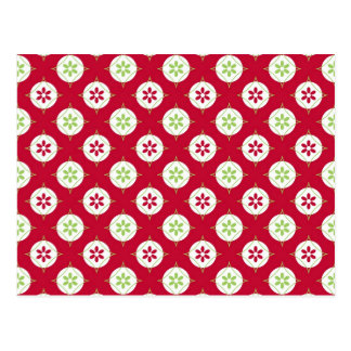 Verde rojo del día de fiesta del modelo festivo tarjetas postales