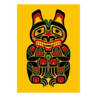 verde rojo del oso del alcohol en yellow.jpg tarjeta de visita