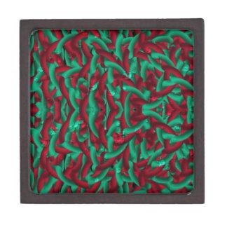 verde/rojo del pellmell caja de joyas de calidad