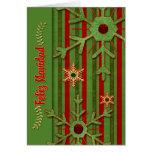 Verde rojo español de Feliz Navidad del navidad de Tarjeta De Felicitación