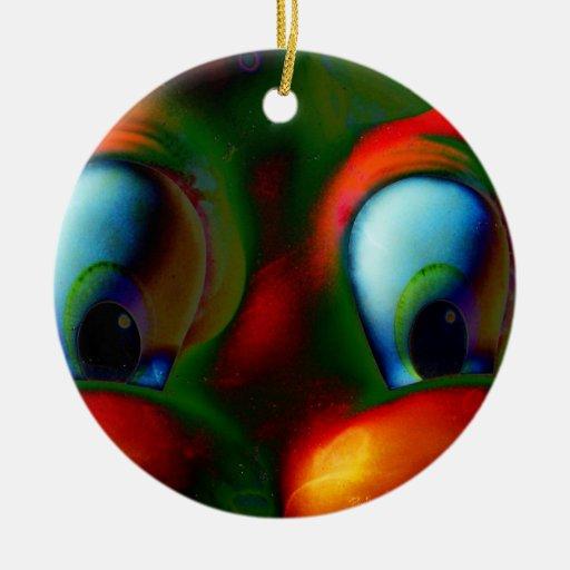 Verde rojo loco de Solarized de los ojos felices Ornato