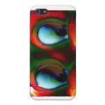 Verde rojo loco de Solarized de los ojos felices iPhone 5 Cárcasas