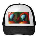 Verde rojo loco de Solarized de los ojos felices Gorras De Camionero