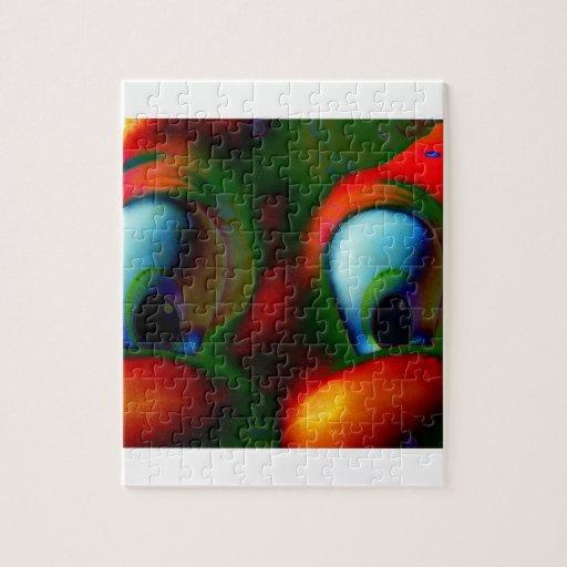 Verde rojo loco de Solarized de los ojos felices Puzzle