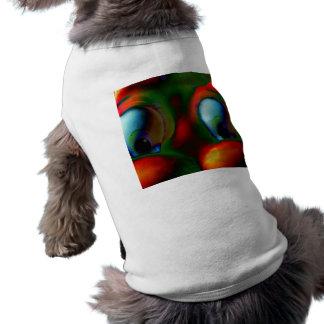 Verde rojo loco de Solarized de los ojos felices Ropa De Perros