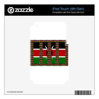 Verde rojo negro de Kenia iPod Touch 4G Skins