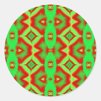 verde rojo salvaje pegatinas redondas