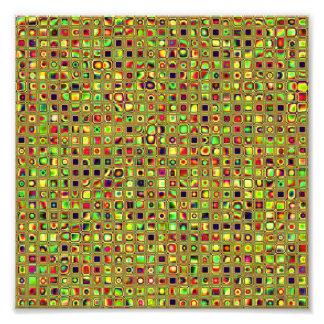 Verde, rojo y modelo texturizado mosaico de las te fotografia