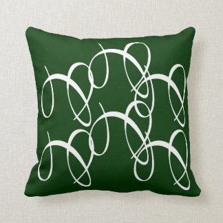 Verde salpicado almohada