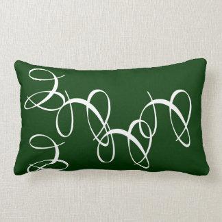 Verde salpicado cojin