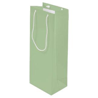 Verde salvia bolsa de regalo para vino